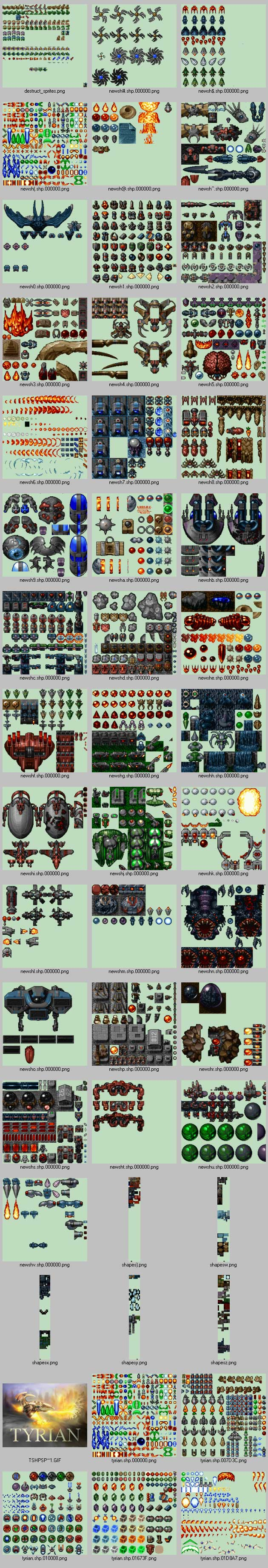 Tyrian Sprites and Tiles